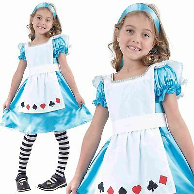 Girls Child Kids Alice In Wonderland Fancy Dress Costume Fairy Princess Outfit