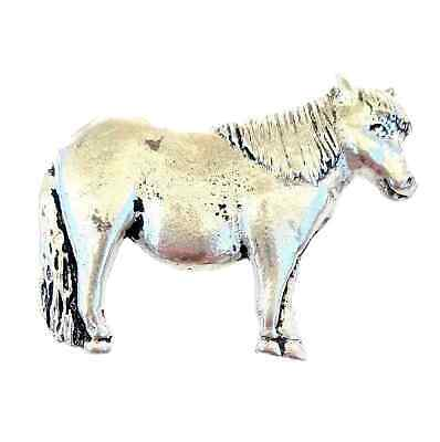Shetland Pony Equestrian Finely Handcrafted in Solid Pewter In UK Lapel Badge