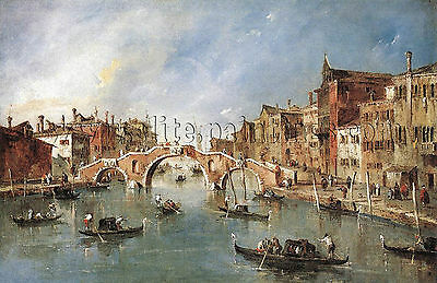 GUARDI Francesco Three Arched Bridge Cannaregio artista quadro dipinto olio tela