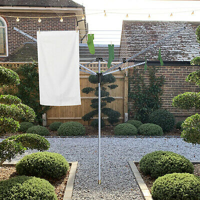 Outdoor Rotary Airer Garden Washing Line 40M 50M Heavy Duty Sturdy Dryer Laundry