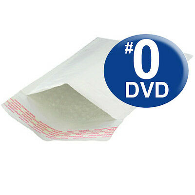 250 QTY Size #0 6.5x10 Kraft White Bubble Mailers DVD SIZE (SHIPS TODAY)