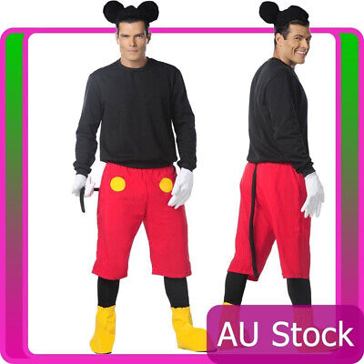 Mens Disney Mickey Mouse Halloween Fancy Dress Adult Costume