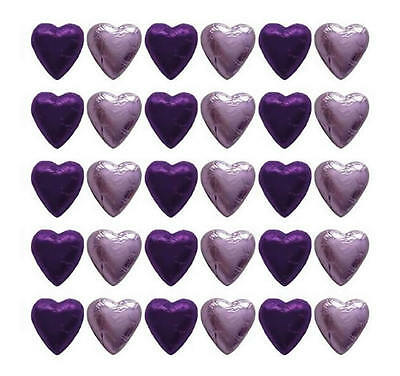 100 Cadbury Chocolate Purple And Lilac Hearts-Wedding Mother's Day Gifts Parties