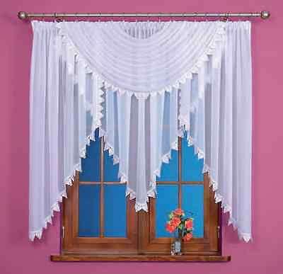 Beautiful White Voile Net Curtain with Marvelous Lace, Home Window Decorations