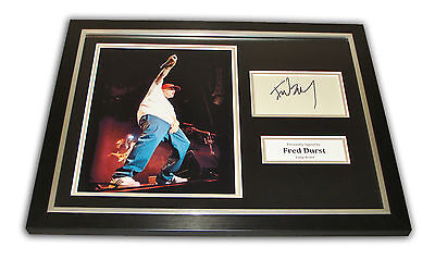 Fred Durst SIGNED Framed Photo Genuine Limp Bizkit AUTOGRAPH 16x12 Display + COA