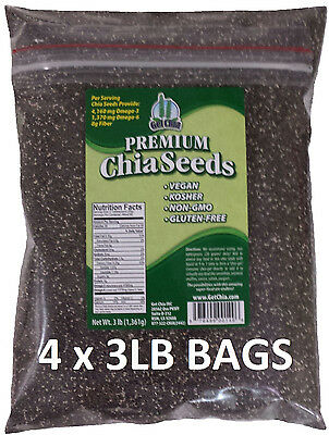 12 POUNDS Premium Black Chia Seed Get Raw Seeds Gluten-Free No GMO Grown Organic