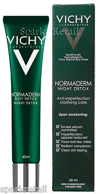 Vichy NORMADERM NIGHT DETOX Anti-Imperfection Clarifying Care 40ml Acne/Spots