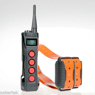 Super Pet Dog Shock Collar 1KM Remote Control Training Auto Anti-Bark Waterproof