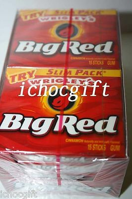1 Box of BIG RED Cinnamon Flavored Chewing Gum (10 packs)