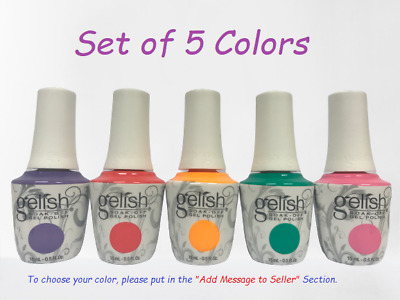 Harmony Gelish Soak-Off - SET OF ANY 5 COLORS x 0.5oz