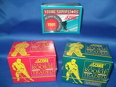 1990-91 Score Hockey - Traded & Young Stars (3) Complete Set (260) Nhl Cards