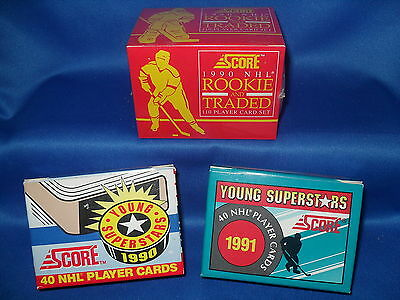 1990-91 Score Hockey - Young Stars & Traded (3) Sets (190) Nhl Cards * Gretzky *