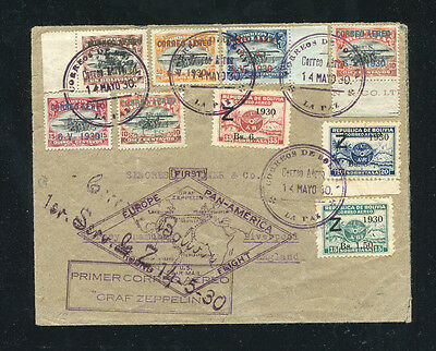 Zeppelin Sieger 60D 1930 South America flight with Bolivia franking to England
