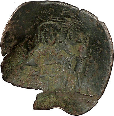 Issac II, Angelus 1185AD Ancient Byzantine Coin Virgin Infant Christ  i38387