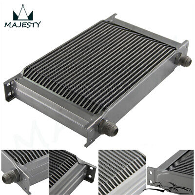 Universal 25 Row AN10 Engine Transmission 248mm Oil Cooler Silver