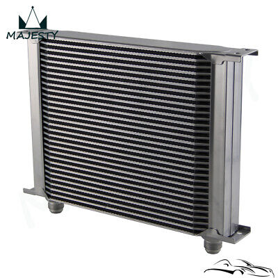 Universal 30 Row AN10 Engine Transmission 248mm Oil Cooler Silver