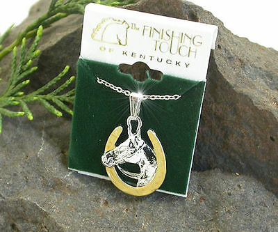 Horse & Western Jewellery Jewelry Ladies Horseshoe & Horse Necklace T/t