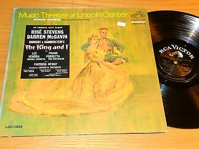 """MONO LINCOLN CENTER ORIG. CAST LP - RCA LOC-1092 - """"THE KING AND I"""""""