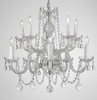 "Chandelier Chandeliers Lighting Dressed With Swarovski Crystal! H 25"" W 24"""