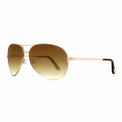 Tom Ford Charles TF035 28G Rose Gold/Brown Gradient Aviator Sunglasses