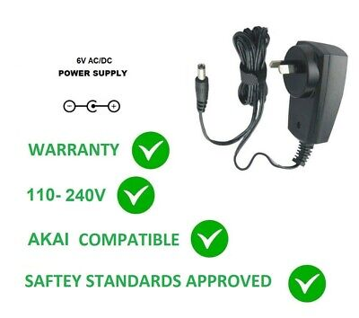 6V Ac/Dc Power Supply Adapter For Akai Mpd/Mpk/Synthstation Replacementfor Mp6-1