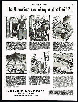 1948 United States Is America Running Out Of Oil Union Oil California Print Ad