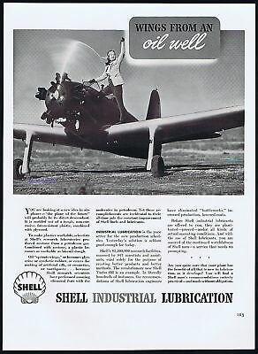 1941 Shell Lubricants Future Planes Product Research Ad