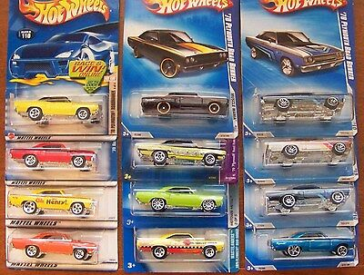 1998 Thru 2010 Hot Wheels 1970 Plymouth Road Runner Choice Lot All Different