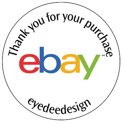 70 Personalised Shop Ebay Logo Business Stickers Thank you for your purchase -43