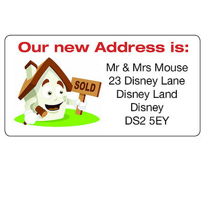 24 x personalised new house home we are moving address labels stickers 092