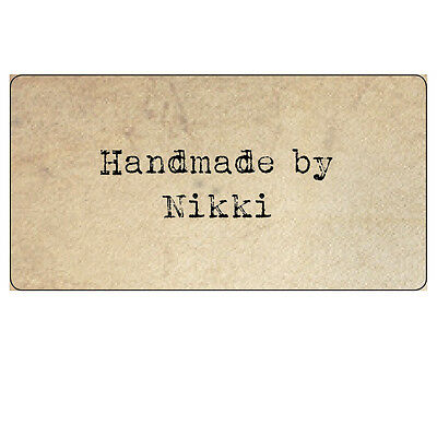 48 x Vintage Parchment Shabby Chic Handmade by Personalised Stickers Labels -027