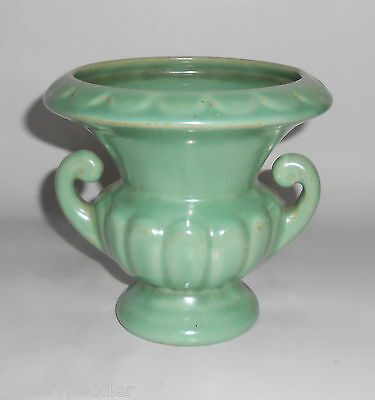 Camark Pottery Early Frosted Green Vase! MINT