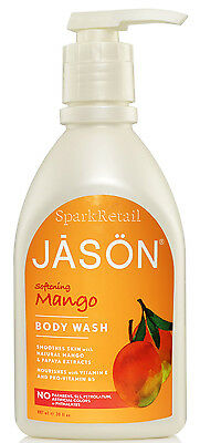 Jason Organic Softening MANGO Body Wash Shower Gel Cleanser 887ml