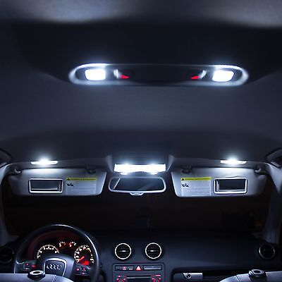 Audi A5 S5 Interior LED Bulbs Kit - XENON WHITE LED INTERIOR LIGHTS Error Free