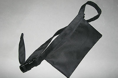 """1 BLACK Pouch WAIST APRON 9.5"""" X 5.5"""" Aprons 'n More LARGE POCKET made in Canada"""