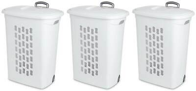 Sterilite Laundry Hampers with Lift-Top, Wheels, & Pull Handle (3-Pack) 12228003