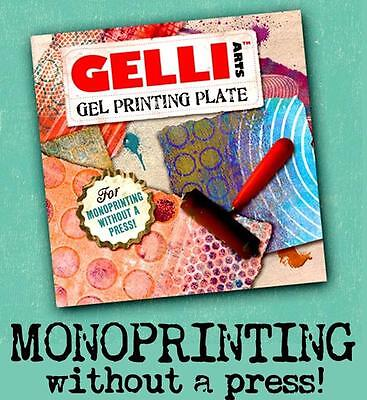 "Gelli Arts 6"" x 6"" Gel Printing Plate for Mono Printing - Durable and Reuseable!"