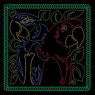Macaw Quilting Backgrounds - 40 Machine Embroidery Designs (Azeb)