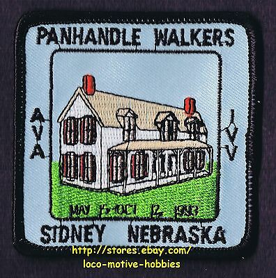 LMH PATCH Badge 1993 PANHANDLE WALKERS Walking Club IVV AVA Volkssport SIDNEY NE