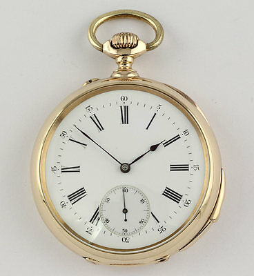 Mermord Freres Repeater Pocket watch ¼ Repetition 14K Gold 1900 Taschenuhr