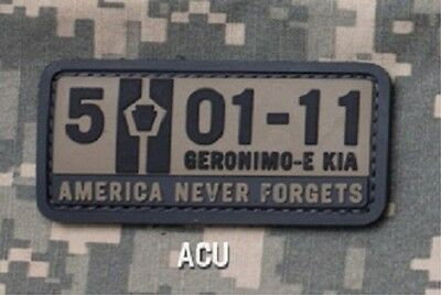 5-01-11 AMERICA NEVER FORGETS PVC US ISAF TACTICAL USA MORALE VELCRO ACU PATCH