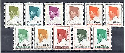 INDONESIA = Small lot of MNH `Heads`. Unchecked for types, etc. Got to go at ...
