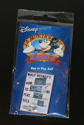 Walt Disney 12 Months Of Magic Goofy How To Play Golf Pin Moc New Sealed