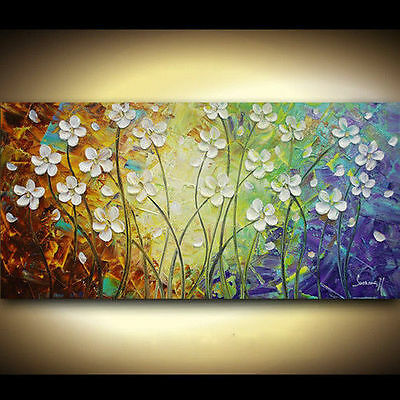 MODERN ABSTRACT HUGE CANVAS ART OIL PAINTING(no framed)