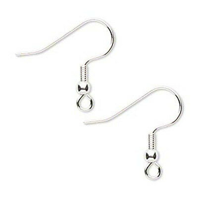 100 Silver Plated Hypo Allergenic Coil w Ball Earwires