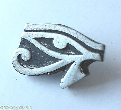 Eye of Horus ancient Egyptian sky god Hand Made in the UK Pewter Pin Badge