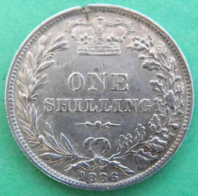 1886 - Victoria - Shilling - Young Head - GVF - SN8147