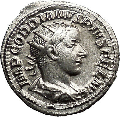 GORDIAN III Grandson of Gordian I Ancient RARE Roman Coin Apollo Cult  i38670