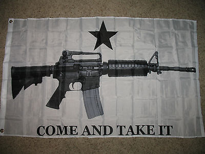 3x5 AR-15 Come and Take it M4 Machine Gun Flag 3'x5' Banner Brass Grommets