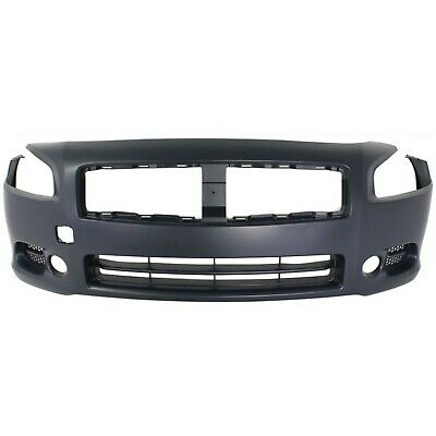 Front Bumper Cover For 2009-2014 Nissan Maxima w/ fog lamp holes Primed CAPA